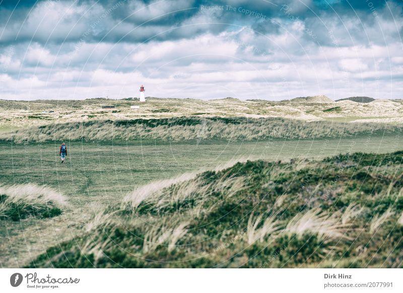 Leuchtturm List (West) III Mensch Natur Ferien & Urlaub & Reisen Wasser Meer Erholung Wolken Ferne Gras Tourismus Horizont wandern Insel Richtung Sommerurlaub