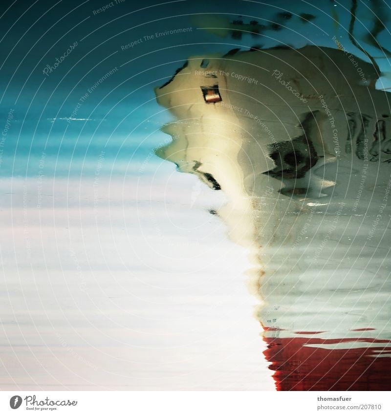 Geisterschiff Wasser Meer Ferien & Urlaub & Reisen Farbe Wasserfahrzeug hell Flüssigkeit Schifffahrt Ostsee Surrealismus Leichtigkeit Reflexion & Spiegelung