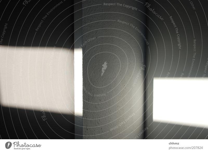 Schattenspiele Innenarchitektur Raum dunkel hell Lichtstrahl Lichtspiel Lichteinfall Tapete Wand vertikal Ecke Farbfoto Innenaufnahme Morgen Kontrast