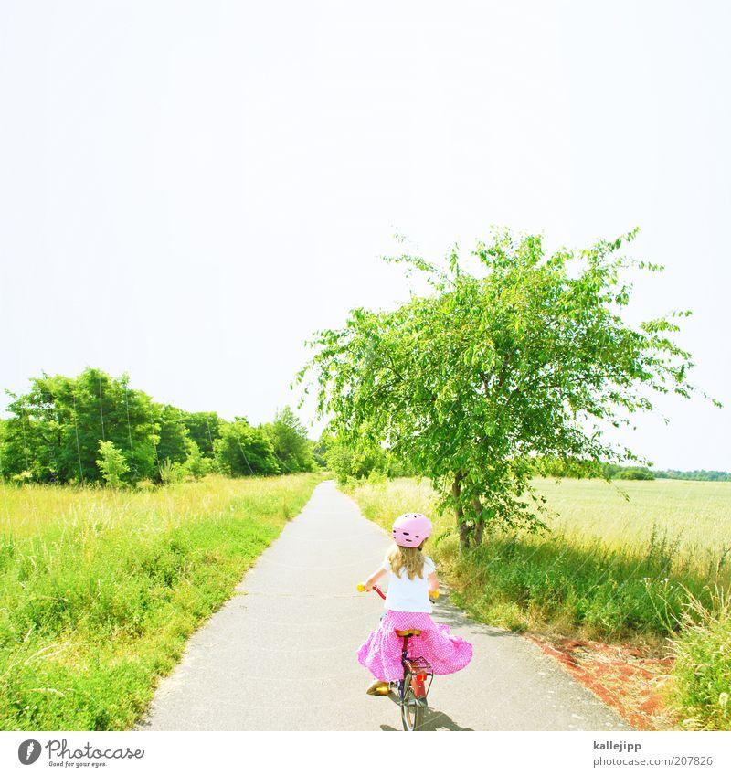 Heute ist nicht alle Tage, Mensch Kind Natur grün Baum Pflanze Mädchen Ferien & Urlaub & Reisen Sommer Freude ruhig Erholung Wiese Leben Umwelt Landschaft