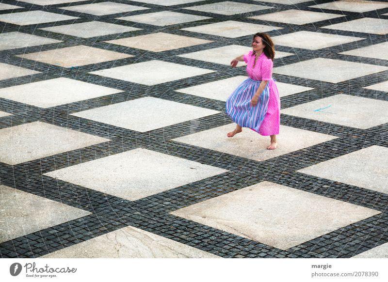 AST 10 |Let's dance II Mensch Frau Jugendliche blau Junge Frau Freude Erwachsene Leben Bewegung feminin rosa Freizeit & Hobby Fröhlichkeit Platz Tanzen