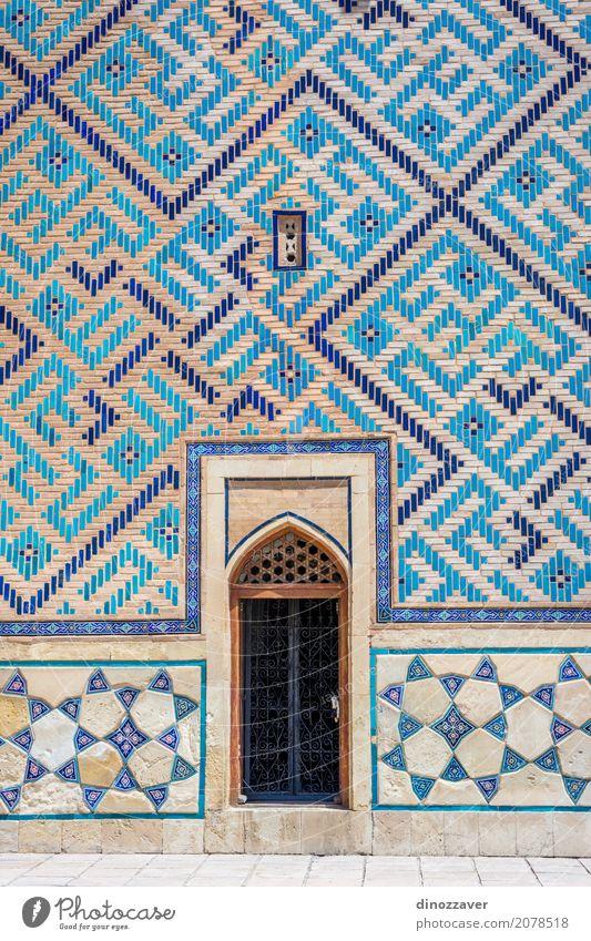 Tür von Turkistan-Mausoleum, Kasachstan Ferien & Urlaub & Reisen alt blau schön Religion & Glaube Architektur Gebäude Tourismus Stein Design Kultur Platz