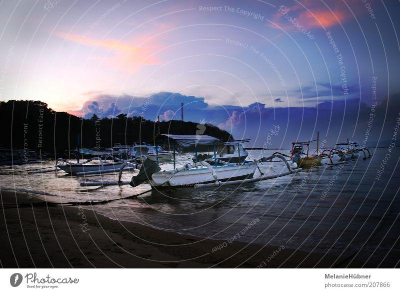 Padang Bai Beach Himmel Natur blau Wasser Ferien & Urlaub & Reisen Meer Sommer Strand Wolken Ferne Umwelt Freiheit Küste Wasserfahrzeug Insel Ausflug