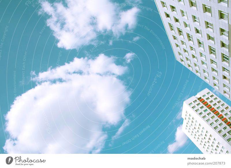 summerbreeze Himmel Stadt Wolken Farbe Leben Berlin Stil Fenster Gebäude hell Architektur Design elegant Hochhaus Fassade