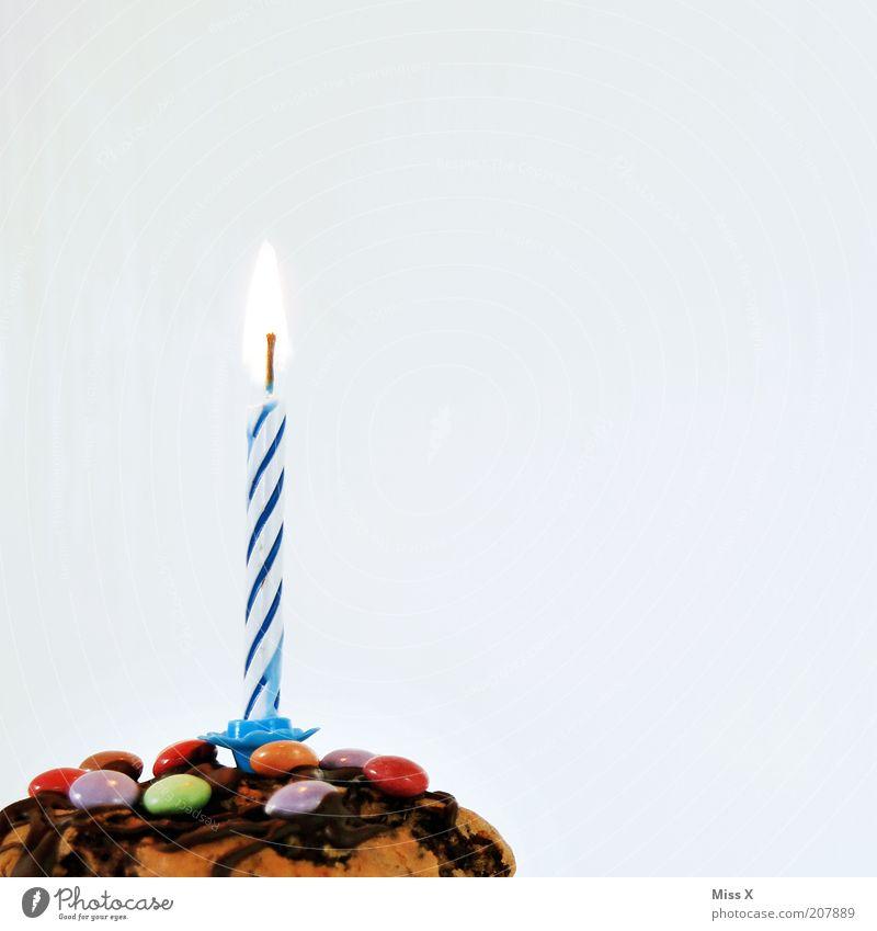 Geburtstagsmuffin für secrets Katze Ernährung Glück Jubiläum Stimmung Feste & Feiern klein Lebensmittel Torte süß Geschenk Kerze leuchten Kuchen lecker Süßwaren