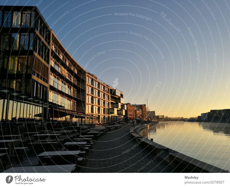 Sonnenaufgang am Stadthafen von Münster in Westfalen - ein ...