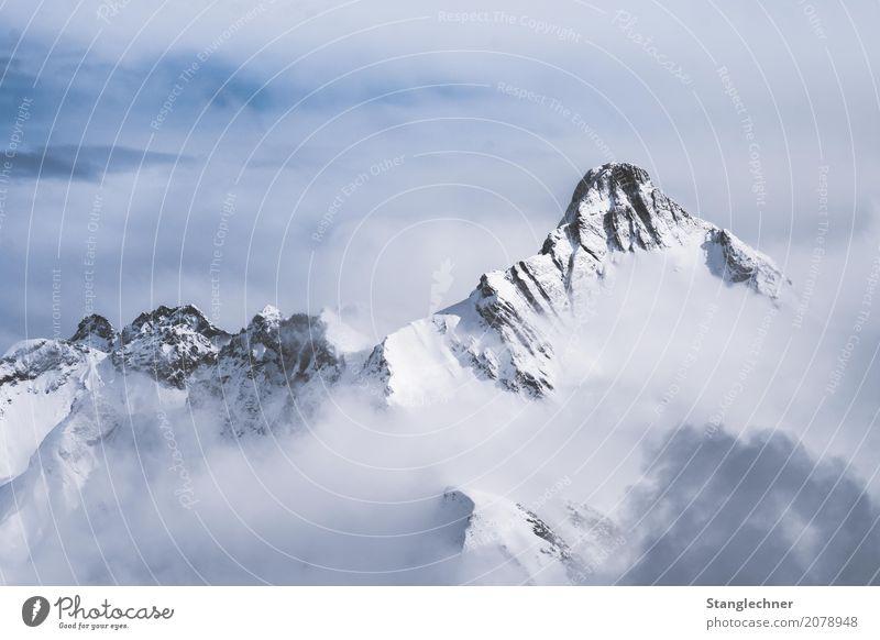 Biberkopf Freizeit & Hobby wandern Ferien & Urlaub & Reisen Tourismus Abenteuer Winter Berge u. Gebirge Landschaft Wolken Wetter Schönes Wetter Eis Frost Schnee