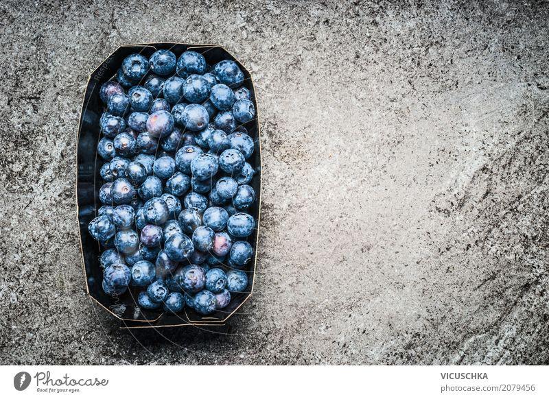Heidelbeeren Lebensmittel Frucht Ernährung Bioprodukte Vegetarische Ernährung Diät Stil Design Gesundheit Gesunde Ernährung Sommer Natur Hintergrundbild