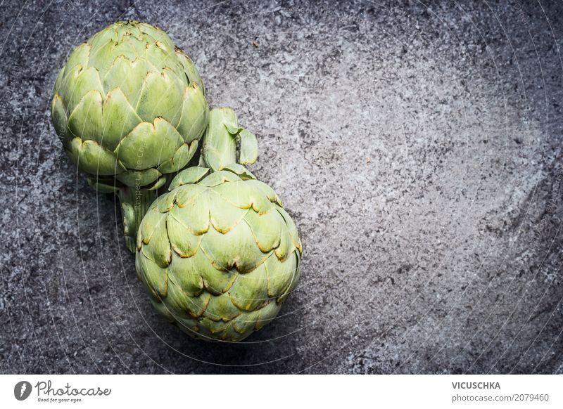Grüne Artischocken Lebensmittel Gemüse Ernährung Bioprodukte Vegetarische Ernährung Diät Stil Design Gesundheit Gesunde Ernährung Hintergrundbild Foodfotografie