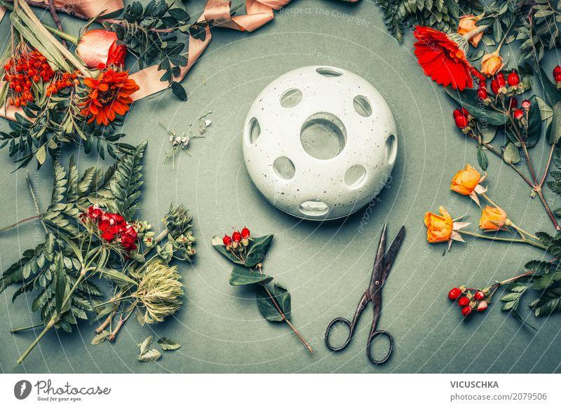 Florist Arbeitstisch Lifestyle Stil Design Freizeit & Hobby Dekoration & Verzierung Tisch Arbeit & Erwerbstätigkeit Natur Pflanze Herbst Blume Blatt Blüte