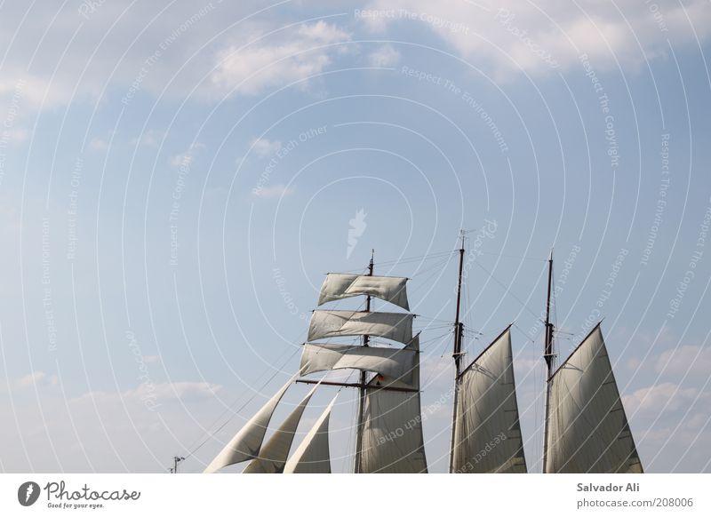 Der fliegende Holländer blau Wasser weiß schön Ferien & Urlaub & Reisen Wolken Erholung Luft ästhetisch Klima Unendlichkeit Schönes Wetter entdecken Ostsee Schifffahrt Segeln