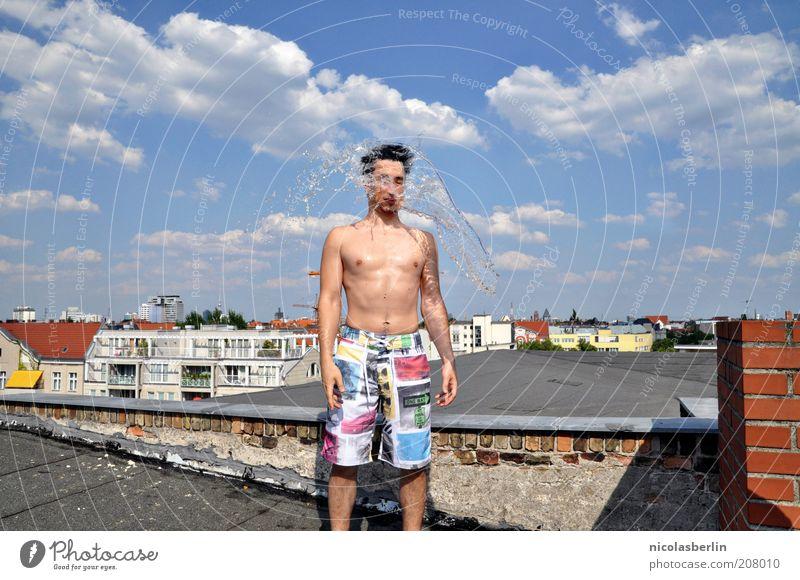 Refresh! Himmel Jugendliche Wasser Stadt schön Sommer Wolken Haus Erwachsene Wand Wärme Mauer Wetter Körper Freizeit & Hobby Haut