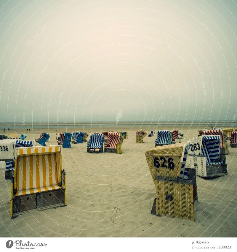 lazy, hazy days of summer Ferien & Urlaub & Reisen Tourismus Ausflug Strand Meer Sand Wasser schlechtes Wetter Küste Nordsee Erholung sitzen Zufriedenheit