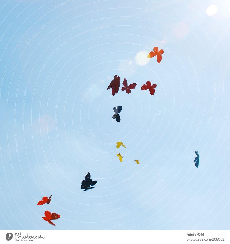 Liebe Grüße. Himmel Sonne Sommer Gefühle Freiheit träumen Kunst fliegen ästhetisch Zukunft Dekoration & Verzierung viele Kreativität Schmetterling abstrakt Idee