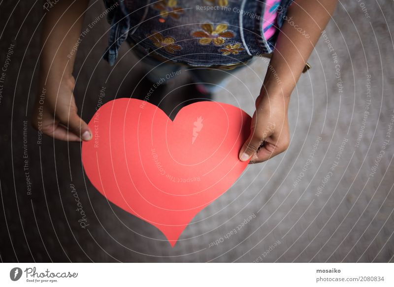 Für Dich Design Kindererziehung Bildung Kindergarten Schule lernen Schulkind Mädchen Hand 3-8 Jahre Kindheit Papier Liebe Treue Güte Selbstlosigkeit dankbar