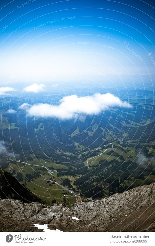 ...über den Wolken.. (IV) Wohlgefühl Zufriedenheit Ferien & Urlaub & Reisen Ausflug Ferne Freiheit Sommer Sommerurlaub Berge u. Gebirge Umwelt Landschaft Himmel
