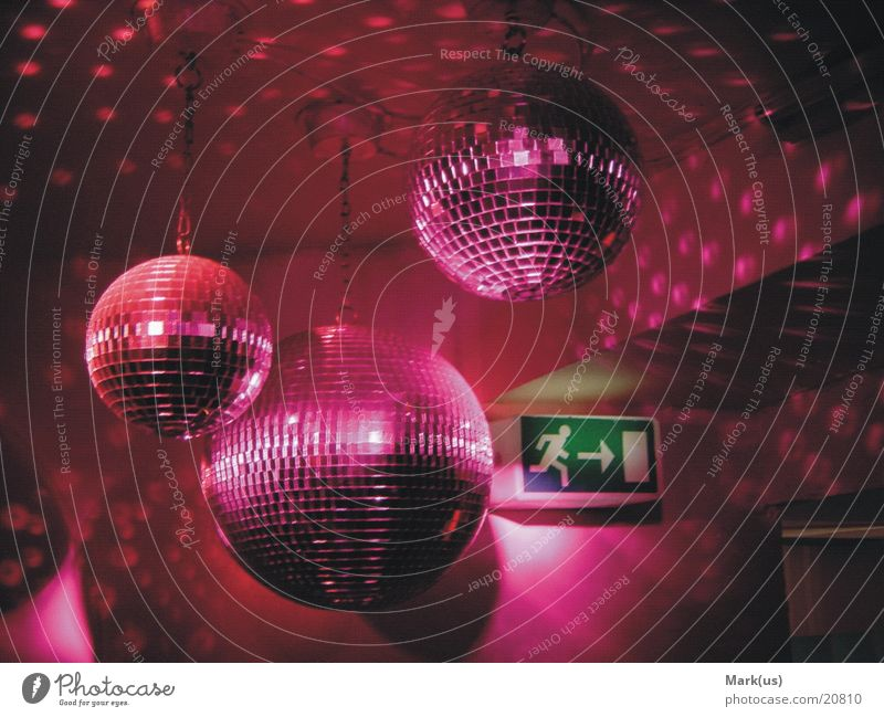 Pink disco balls Farbe Party rosa Disco Club Discokugel Fototechnik