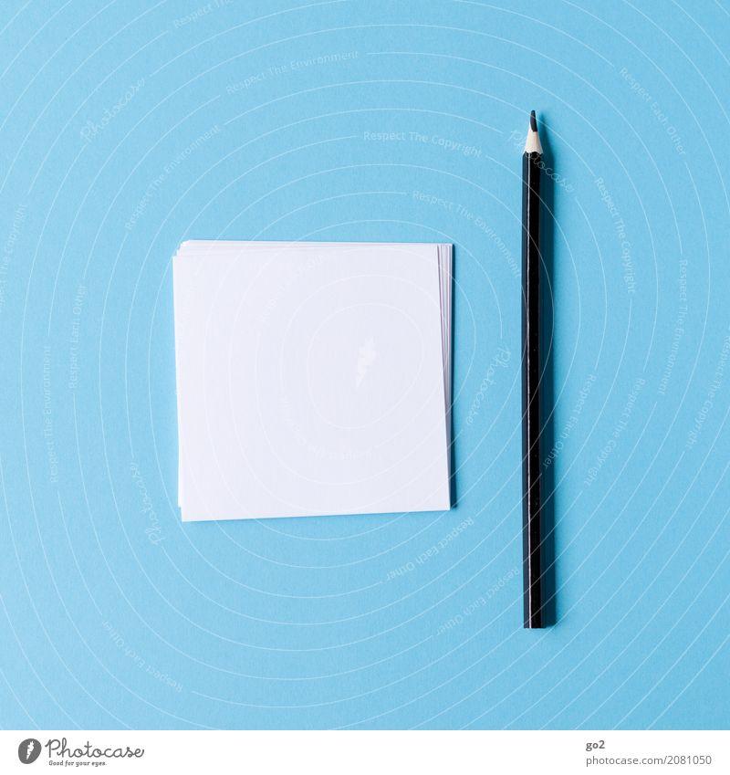 Ideen gesucht blau weiß schwarz Schule Büro Kreativität leer Beginn lernen Papier Studium einfach planen Ziel schreiben