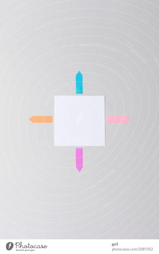 Für alles offen sprechen Schule Büro Kommunizieren Schilder & Markierungen Erfolg lernen Papier Studium Zeichen planen Ziel Netzwerk Pfeil Sitzung Werbebranche