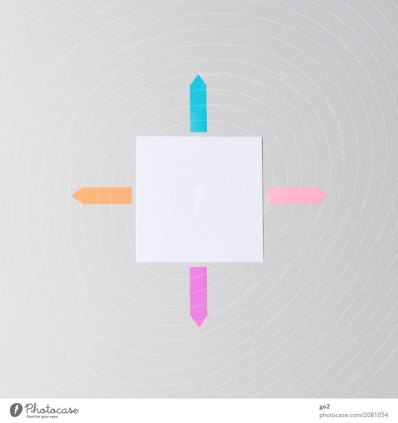 Es gibt mehrere Möglichkeiten sprechen Wege & Pfade Schule Büro Kommunizieren Schilder & Markierungen Erfolg Kreativität Beginn Papier Studium Zeichen planen