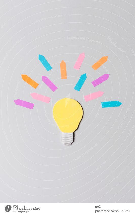 Heureka Freizeit & Hobby Basteln Schule Studium Werbebranche Karriere Erfolg Papier Glühbirne Zeichen Pfeil Denken entdecken leuchten ästhetisch außergewöhnlich