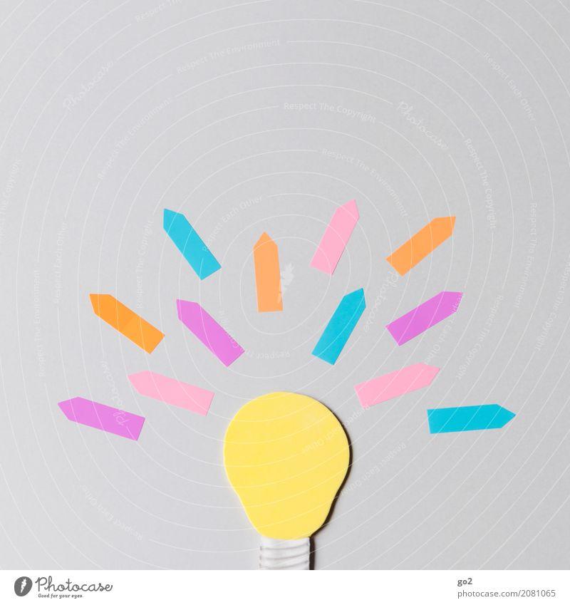 Idee! gelb sprechen Kunst außergewöhnlich Schilder & Markierungen Kreativität Erfolg Beginn einzigartig lernen Lebensfreude Energie Papier Zeichen planen