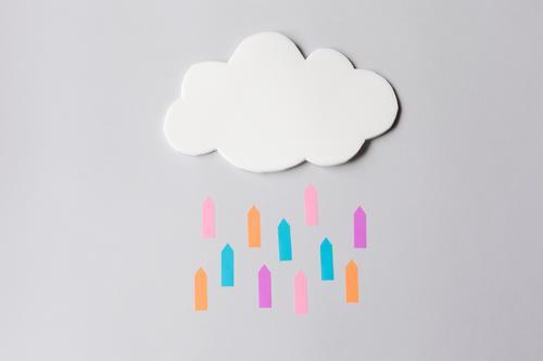 Cloud Wolken sprechen Büro Kommunizieren Technik & Technologie Telekommunikation Erfolg Computer Zukunft Zeichen Sicherheit Team Internet Pfeil