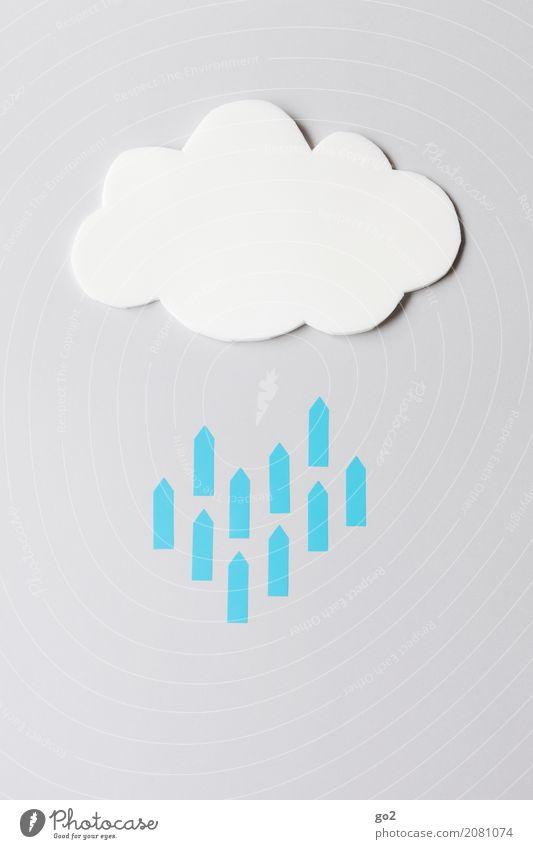 Cloud Freizeit & Hobby Basteln Büro Team Software Fortschritt Zukunft Informationstechnologie Internet Neue Medien Wolken schlechtes Wetter Regen Zeichen Pfeil