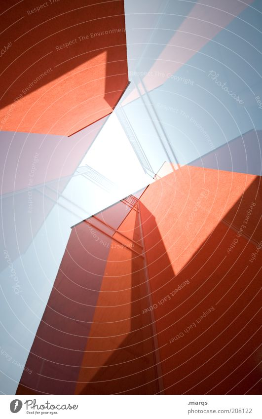 Construction Stil Design Hochhaus Bankgebäude Bauwerk Architektur Fassade außergewöhnlich eckig groß trendy einzigartig neu rot chaotisch Farbe Fortschritt