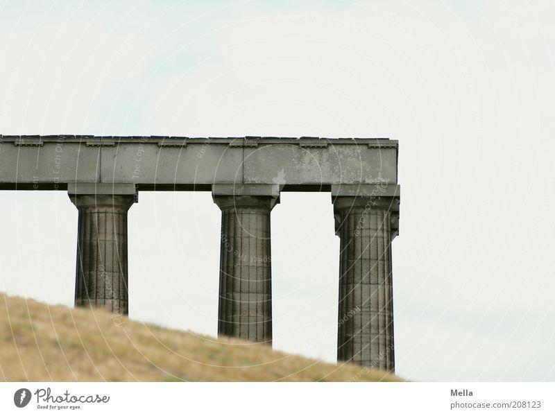 Monumental Ferien & Urlaub & Reisen Sightseeing Edinburgh Schottland Großbritannien Europa Menschenleer Bauwerk Architektur Säule Sehenswürdigkeit Denkmal