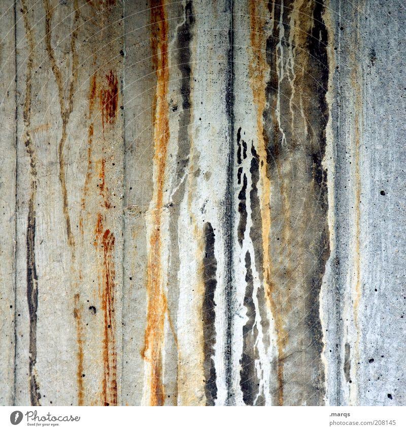 Abfluss Design Mauer Wand Beton alt dreckig Flüssigkeit trashig verrückt skurril Verfall Vergänglichkeit Wandel & Veränderung fließen trist Farbfoto Nahaufnahme