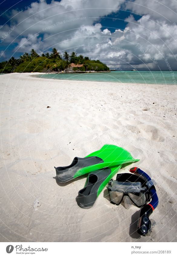 und irgendwann bleib i dann dort... Natur Wasser Meer blau Sommer Strand Ferien & Urlaub & Reisen ruhig Einsamkeit Freiheit träumen Sand Landschaft Umwelt Insel