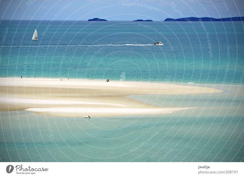 paradise Wasser schön Meer Sommer Strand Ferien & Urlaub & Reisen Erholung Sand Landschaft Wasserfahrzeug Wellen Umwelt Lifestyle Insel Tourismus