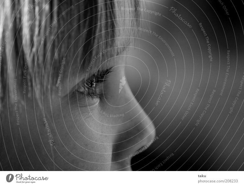 SOPHIE THERES I Kind ruhig Auge träumen Kopf blond Porträt Sehnsucht