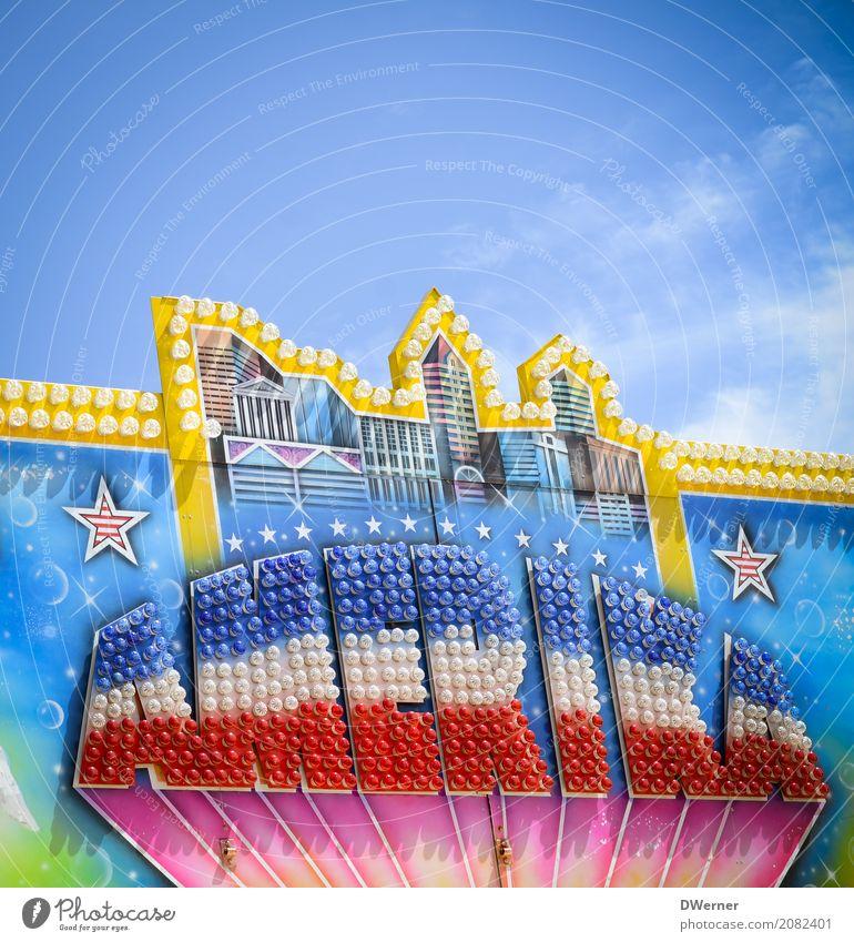 AMERIKA Lifestyle Stil Ferien & Urlaub & Reisen Tourismus Freiheit Sightseeing Wirtschaft Handel Skyline Zeichen Netzwerk glänzend leuchten Erfolg Kitsch retro