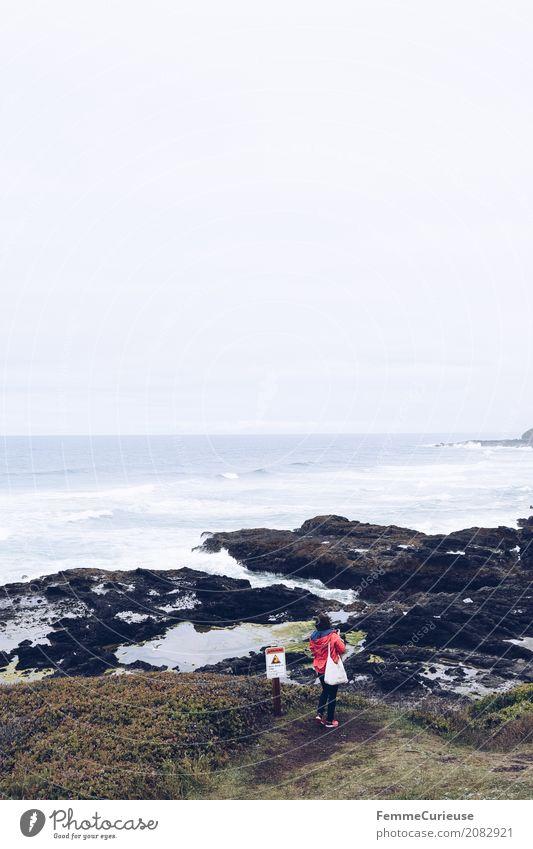 Roadtrip West Coast USA (04) 1 Mensch Wasser Natur Tourist Westküste Pazifik Wellen Strand Küste Felsen wandern Ausflug Pause Ausflugsziel Außenaufnahme