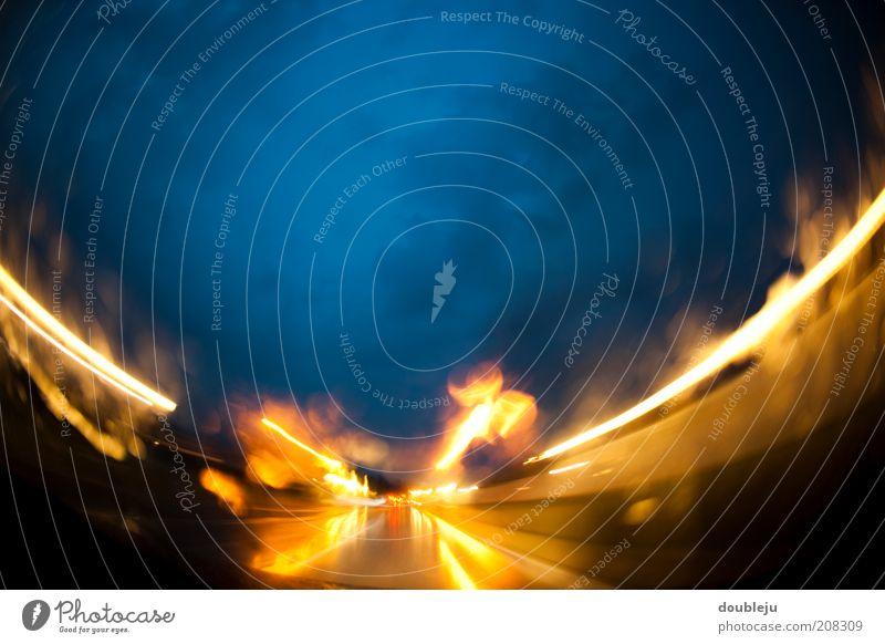 himmel und hölle Himmel Himmel (Jenseits) Hölle Wege & Pfade Straße Feuer Brand brennen Abend Nacht Flamme Wolken Zentralperspektive Perspektive gelb orange