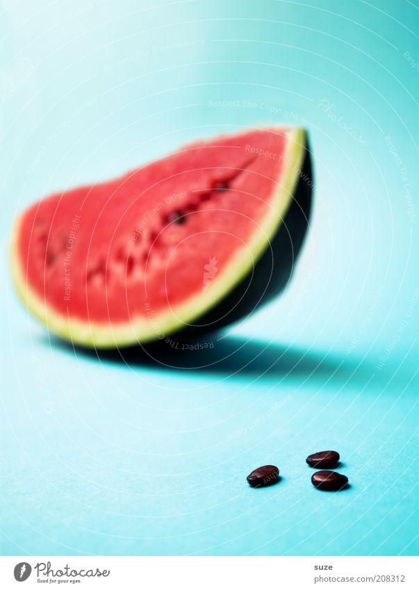 3 Kerne Lebensmittel Frucht Ernährung Bioprodukte Vegetarische Ernährung Diät frisch lecker saftig süß blau rot Appetit & Hunger Wassermelone Melonen