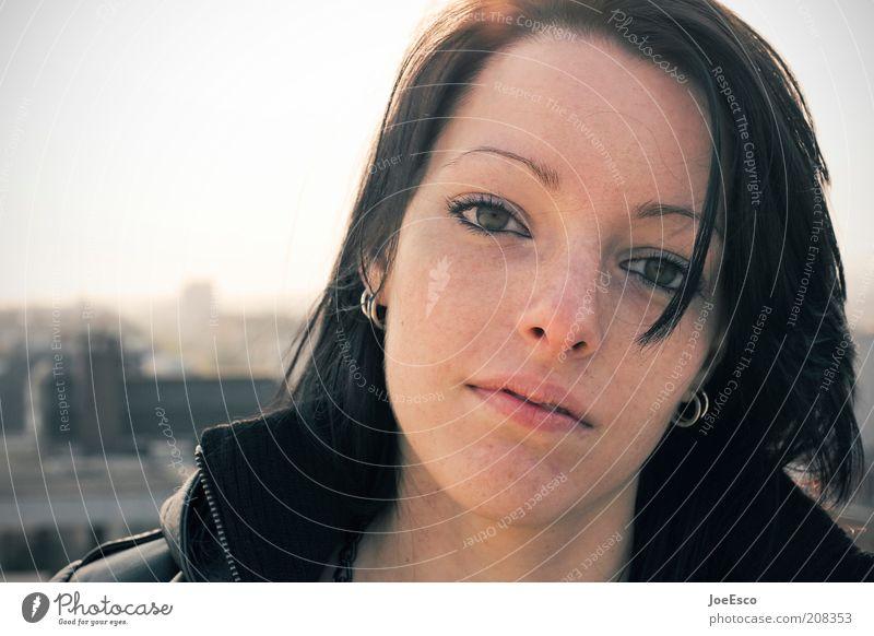 #208353 Frau Jugendliche schön Gesicht Erholung Leben Gefühle Glück Stil Erwachsene träumen Zufriedenheit modern natürlich Lifestyle Coolness