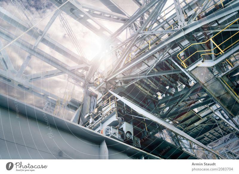 Industrie Lifestyle Stil Arbeitsplatz Baustelle Maschine Technik & Technologie Energiewirtschaft Kohlekraftwerk Umwelt Gewitterwolken Klima Industrieanlage