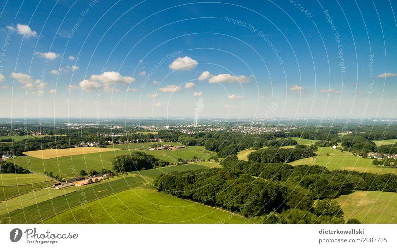 Bergisches Land Umwelt Natur Landschaft Himmel Sommer Schönes Wetter Feld Dorf Kleinstadt Stadt fliegen frei schön Glück Zufriedenheit Horizont Heimat