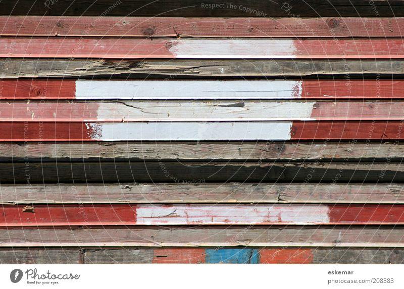 Farbfelder schön weiß rot Farbe Holz Zufriedenheit braun rosa Ordnung ästhetisch einfach Streifen Holzbrett Stapel gestreift Rechteck
