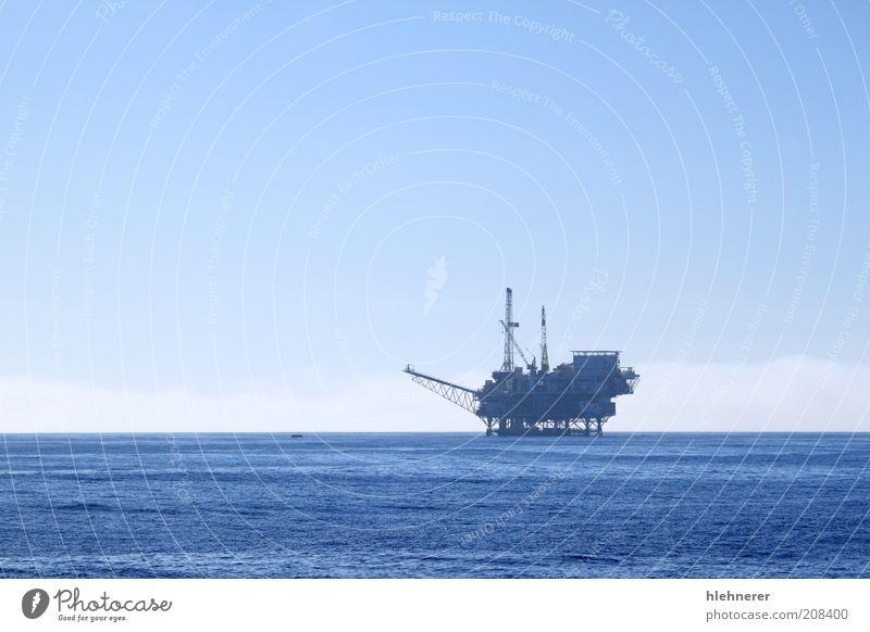Öleinfüllstutzen Meer Industrie Technik & Technologie Umwelt Pflanze Himmel Wolken Nebel Stahl Erdöl natürlich blau Energie Gas Benzin Takelage Podest