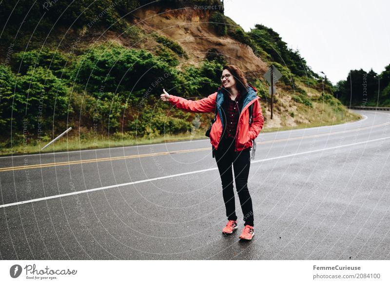 Roadtrip West Coast USA (85) feminin Junge Frau Jugendliche Erwachsene 1 Mensch 18-30 Jahre 30-45 Jahre Abenteuer trampen Reisefotografie