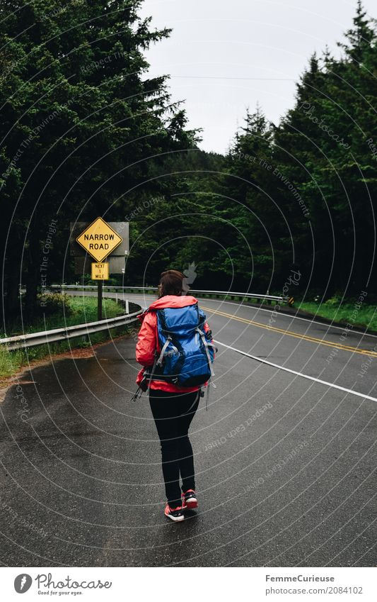Roadtrip West Coast USA (307) Mensch Frau Ferien & Urlaub & Reisen Jugendliche Junge Frau Baum 18-30 Jahre Reisefotografie Erwachsene feminin wandern Abenteuer