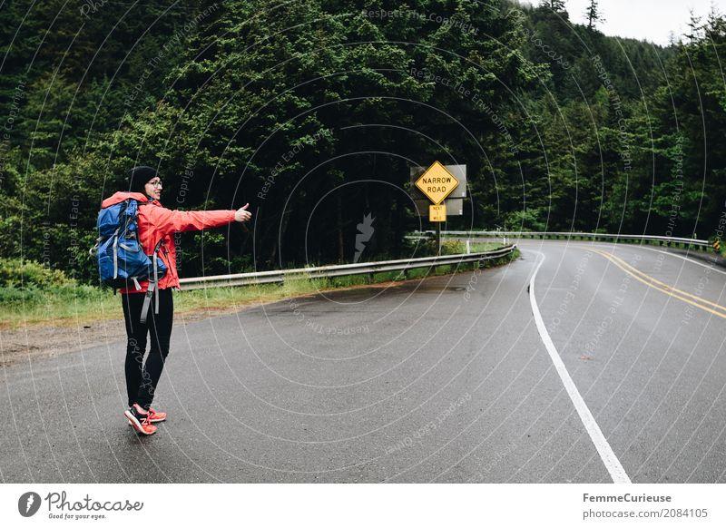 Roadtrip West Coast USA (71) feminin Junge Frau Jugendliche Erwachsene Mensch 18-30 Jahre 30-45 Jahre Abenteuer trampen Tourismus Reisefotografie