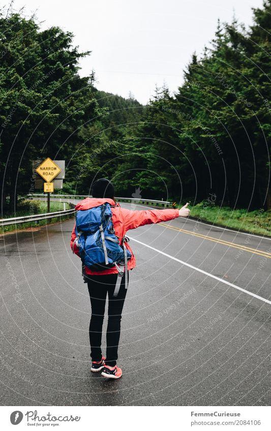 Roadtrip West Coast USA (08) feminin Junge Frau Jugendliche Erwachsene 1 Mensch 18-30 Jahre 30-45 Jahre Natur Landschaft trampen Reisefotografie