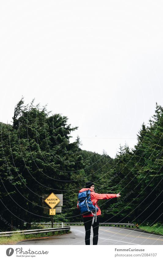 Roadtrip West Coast USA (321) Mensch Frau Ferien & Urlaub & Reisen Jugendliche Junge Frau rot 18-30 Jahre Reisefotografie Erwachsene feminin Freiheit wandern