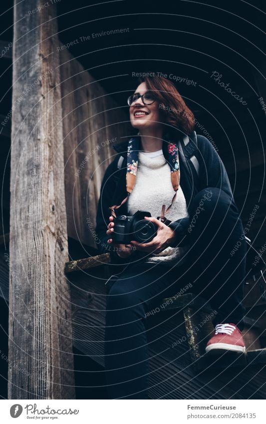 Roadtrip West Coast USA (32) feminin Junge Frau Jugendliche Erwachsene 1 Mensch 18-30 Jahre 30-45 Jahre Freizeit & Hobby Fotograf Fotografie Spiegelreflexkamera