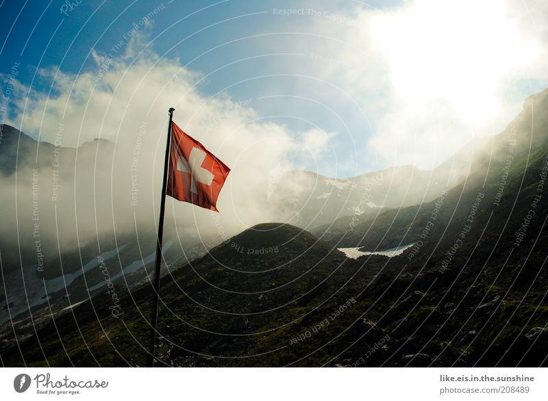 one giant step for mankind... Himmel Ferien & Urlaub & Reisen Sommer Landschaft Wolken Ferne Berge u. Gebirge Herbst Schnee Glück Freiheit Tourismus Nebel genießen Ausflug Gipfel